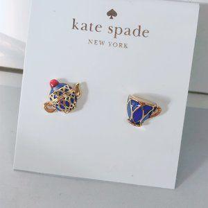 Kate Spade Enamel Teapot Teacup Earrings